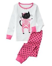 GYMBOREE SLEEPWEAR KITTY CAT SKELETON 2pc PAJAMAS GYMMIES 2 3 5 6 7 8 10 NWT