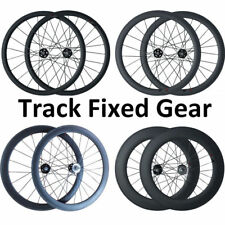 Carbon Wheels Track Fixed Gear Wheel Durable Clincher Tubular Road Bike Bicycle