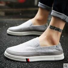 New Fashion Mens Korean Loafer Shoes Canvas Slip on Breathable Casual shoes AK26