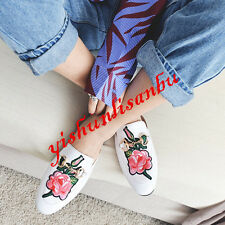 England Womens REAL LEATHER Slingbacks Slippers Floral Casual Sandals Flats Size