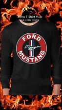 FORD MUSTANG LOGO MEN'S PRINTED MENS & LADIES T SHIRT & SINGLET