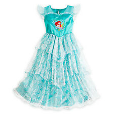 NWT Disney Store Princess Ariel Deluxe Nightgown Costume Little Mermaid Girls