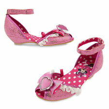 NWT Disney Store Minnie Mouse Pink Costume Dress Shoes SZ 5/67/8,9/10,11/12.13/1