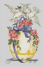 EASTER EGG Birds Religious Counted Cross Stitch Chart Needlework Pattern PDF