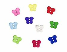 14mm Glitter Butterfly Buttons - 10 Colours & Mixed - Card Embellishments Gifts