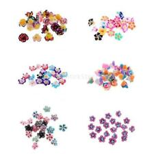 20pcs MagiDeal Polymer Clay Flower DIY Jewelry Findings Loose Spacer Beads