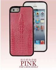 PU LEATHER CROCODILE SKIN STYLE COVER CASE for iPHONE 5 6 7 PLUS PINK