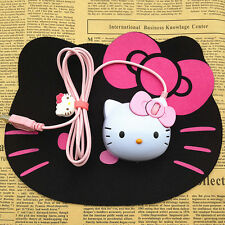 3D Hello Kitty Light-up USB Optical Mouse Cat Cartoon Wired Mice Girls Laptop PC