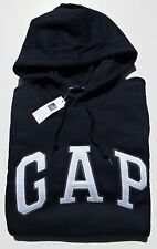 Mens GAP Logo TRUE NAVY BLUE HOODIE SWEATSHIRT Sizes XS, S, M , L, XL, 2XL - NWT