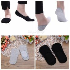 6Pairs Summer Men Boat Socks Low Cut Crew Casual Sport Cotton Silicon Socks Soft