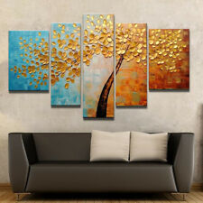 5P Hand Painted Abstract Canvas Oil Painting Wall Art Home Decor Tree(no Frame)