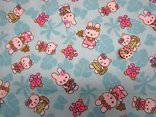 HELLO KITTY & BUNNY-PONYTAIL STYLE -SCRUB HAT /MEDICAL--SURGICAL
