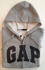 Mens GAP LOGO GRAY ZIP UP HOODIE JACKET SWEATSHIRT Sizes S, M, L, XL, 2XL  - NWT