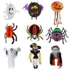 Funny Hallowmas Paper Ghost Spider Pumpkin Zombie Witch Halloween Party Decor
