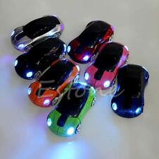 2.4Ghz 1600DPI Wireless Mouse Car Shape LED Light Optical Mice w/ USB Receiver