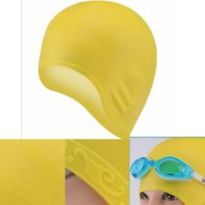 Adult Long Hair Swim Caps Ear Protection Spa Caps 70g Silicone Swimming Cap