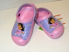 NEW Girls' Crocs Creative Crocs Dora Ballet Kids Clogs Shoes SZ 4/5 8/9 10/11 1