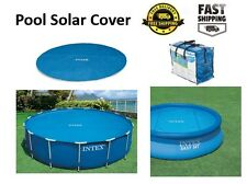Intex Pool Solar Cover for Round Pools 12 15 16 18 foot Retains Keep Water Heat