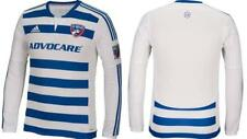NWT Adidas FC Dallas MLS Men's White Long Sleeve Authentic Jersey