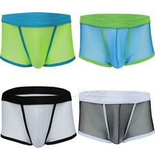 Sexy Men Brief Pants Bikini See-through Underpants Super Thin Low-rise Underwear