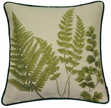 McAlister Textiles Floral Tapestry | Green Mixed Fern Leaf Scatter Cushion Cover