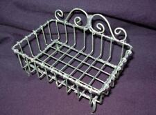 """Wire Soap Holder, Vintage Styled, Shabby Chic Design - 5 1/4"""" x 3"""" x 3 1/2"""""""