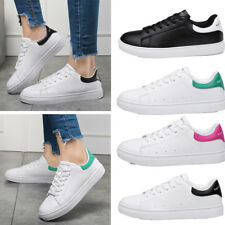 Casual Women Girls Fashion Flats Loafers Sneaker Boat Sports Run Shoes Lace Up