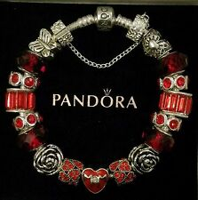 AUTHENTIC PANDORA Sterling Silver MOM CHARM BRACELET European Beads Charms M6