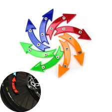 Bicycle Wheel Spoke Reflective Reflector Arrow Shape Cycling Safe Warning light;