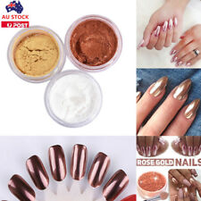 Rose Gold Silver Nail Mirror Glitter Chrome Powder Nail Art Pigment Dust Polish