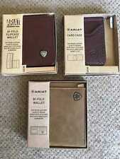 NEW Men's Ariat Leather Bi-Fold Wallets and Card Cases