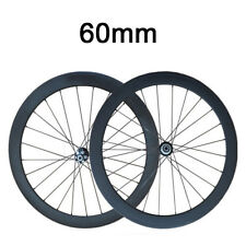 60mm Clincher Carbon Wheels Road Bike Bicycle Wheelset Cyclocross Disc Wheels