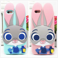 Pink Blue Bunny Judy Rabbit Silicone Rubber Soft Case Cover For Various Mobiles