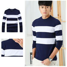 Stripe O Neck T 1Pcs Mens Slim T-Shirt Men's Shirts Casual T Shirts Long Sleeve
