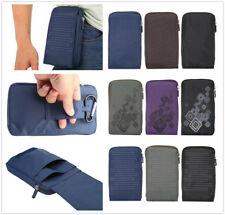 "Simple 6.4"" Multi-functional Casual Belt Sport Nylon Bag Waist Phone Pouch Case"