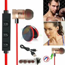 Red -YP56 Magnetic Bluetooth Handsfree Headset Earphone For Cell Phone HuaWei