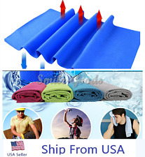 Ice Cold Cool Sport Exercise Cooling Towel Reuseable Cycling Jogging Hiking Golf