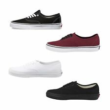 New Vans Authentic Shoes Classic Black White Red Canvas Sneakers Women All Sizes