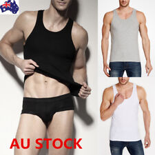 Men Undershirt Tank Top Sport Gym T-shirt Fitness Cotton Vest Sleeveless Singlet