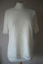 NEW - M&S - size 8 & 10 - gorgeous White/ Ivory ladies LACE TOP/ tunic - BNWoT