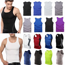 2017 New Men's Sport GYM Fitness Tank Tops Muscle Singlet Tight Sleeveless Vest