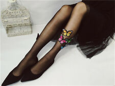 Sexy Women Thin Tights Stockings Butterfly Pattern Silk Lolita Girls Pantyhose