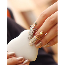 Women Nail Pattern Finger Ring Rings Adjustable Overstate Jewelry Ladies Gift