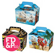 Pirate Treasure Chest Party Boxes Food Loot Lunch Cardboard Gift Childrens Kids