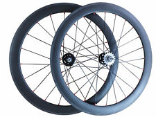 Factory Price Track Fixed Gear 60mm Tubular Carbon Wheels Road Bike Wheelset