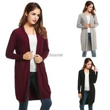 Women's Long Sleeve Open Front Solid Thin Knit Cardigan Sweater OK 01