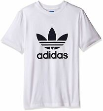 ADIDAS ORIGINALS TREFOIL T-SHIRT TEE WHITE CREWNECK SHORT SLEEVE 100% COTTON