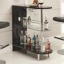 Wine Bar Buffet And Storage Cabinet Modern Wine Rack Console Sideboard Glass