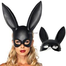 Black Masquerade Bunny Rabbit Mask Adult Halloween Costume Accessory Prop OK01