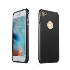 New For iPhone 7 Plus Aluminum Metal Frame Carbon Fiber Hard Back Cover Case